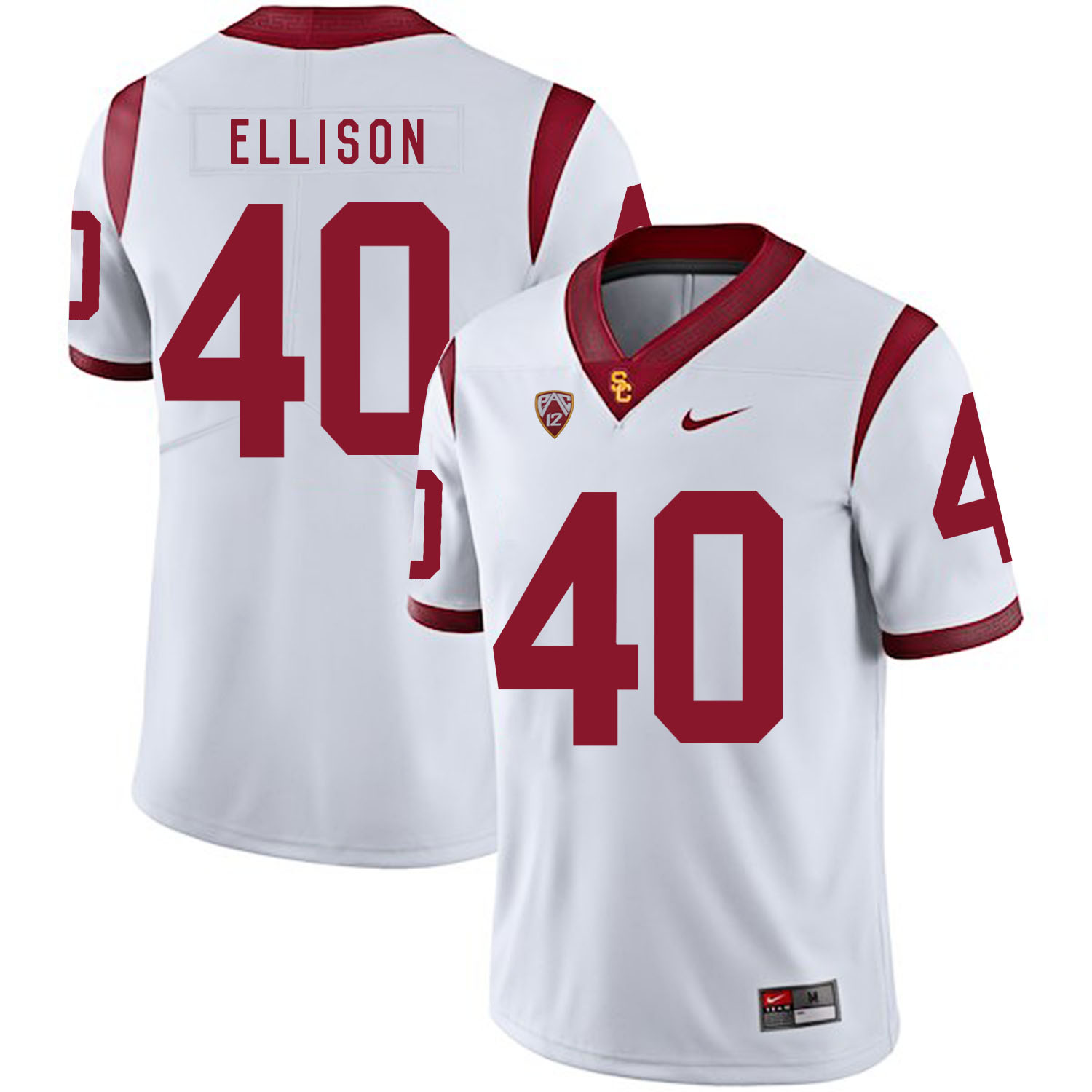 USC Trojans 40 Rhett Ellison White College Football Jersey