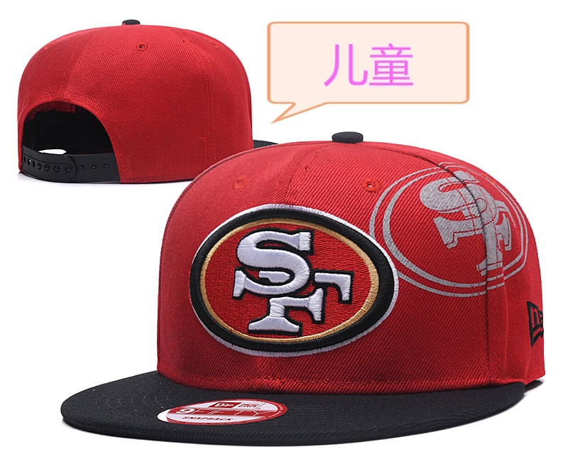 49ers Team Logo Red Youth Adjustable Hat GS