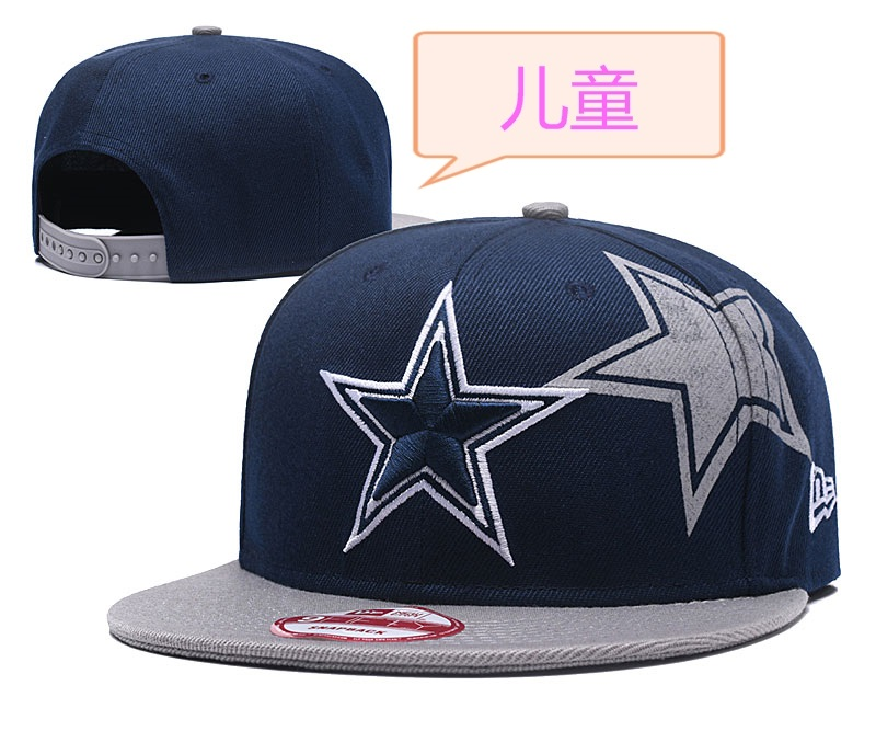 Cowboys Team Logo Navy Youth Adjustable Hat GS
