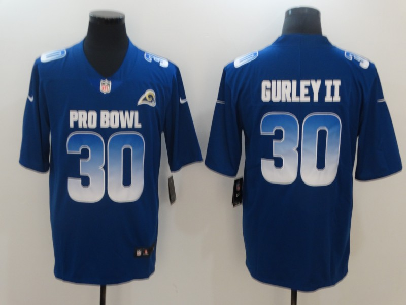 Nike NFC Rams 30 Todd Gurley II Royal 2019 Pro Bowl Game Jersey