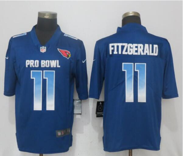 Nike NFC Cardinals 11 Larry Fitzgerald Royal 2019 Pro Bowl Limited Jersey
