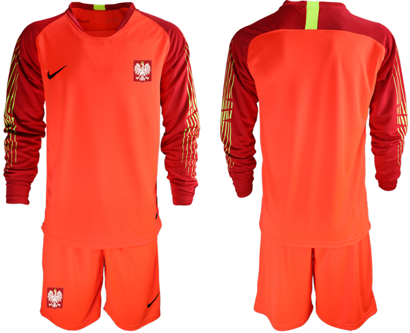 Poland Red 2018 FIFA World Cup Long Sleeve Goalkeeper Soccer Jersey