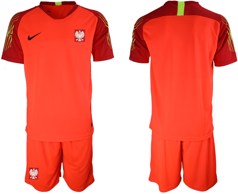 Poland Red 2018 FIFA World Cup Goalkeeper Soccer Jersey