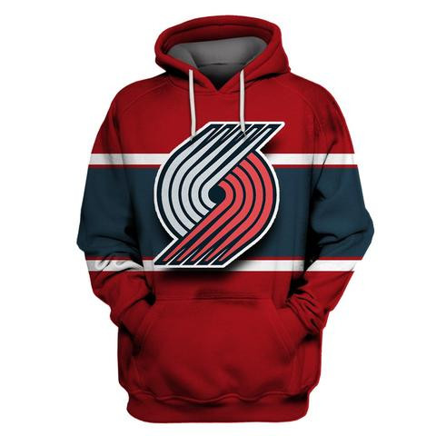 Blazers Red All Stitched Hooded Sweatshirt