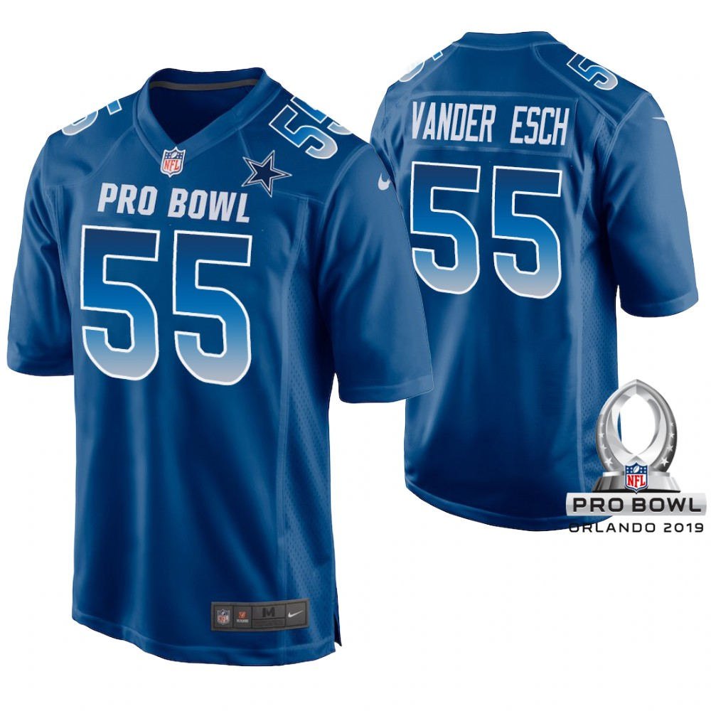 Nike NFC Cowboys 55 Leighton Vander Esch Royal 2019 Pro Bowl Game Jersey
