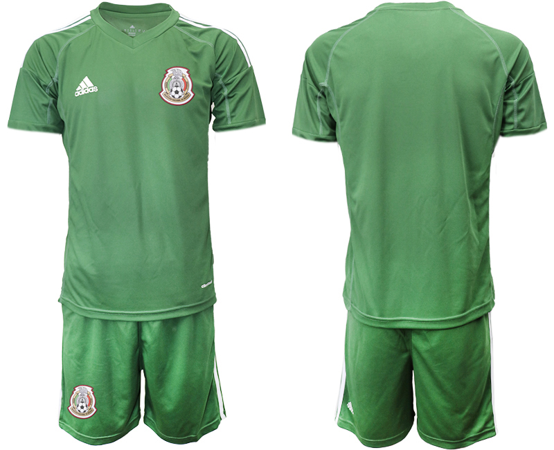 Mexico Army Green 2018 FIFA World Cup Goalkeeper Soccer Jersey