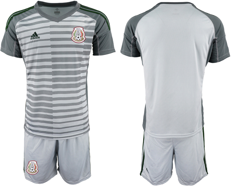 Mexico Gray 2018 FIFA World Cup Goalkeeper Soccer Jersey