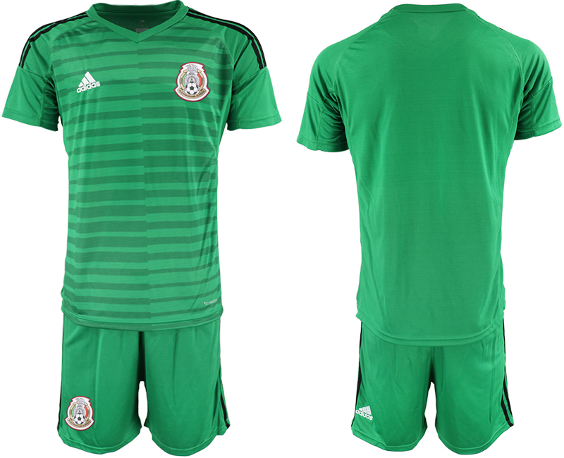 Mexico Green 2018 FIFA World Cup Goalkeeper Soccer Jersey