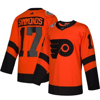 Flyers 17 Wayne Simmonds Orange 2019 NHL Stadium Series Adidas Jersey