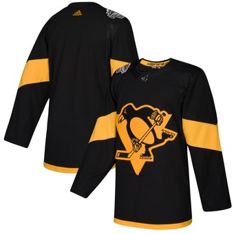 Penguins Black 2019 NHL Stadium Series Adidas Jersey