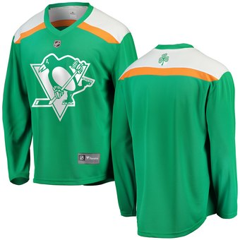 Penguins Green 2019 St. Patrick's Day Adidas Jersey