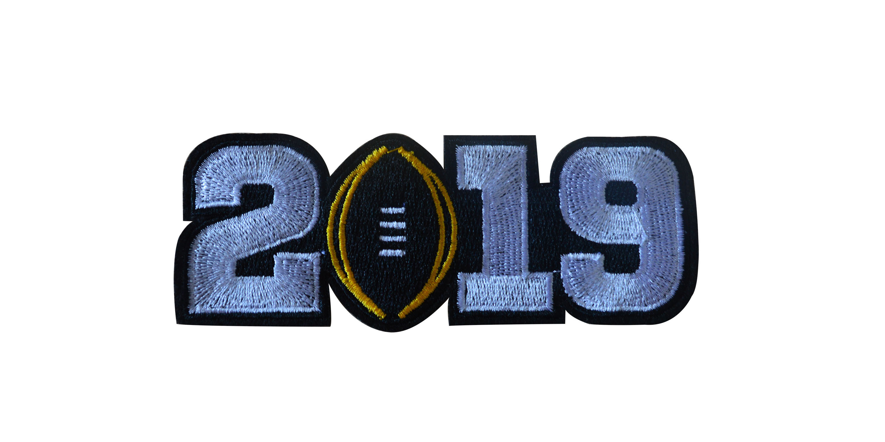2019 College Football Playoff National Championship Patch White(Worn By Alabama)