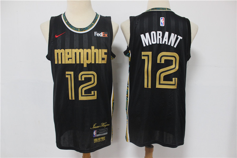 Grizzlies 12 Ja Morant Black 2020-21 City Edition Nike Swingman Jersey