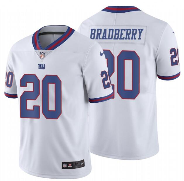 Nike Giants 20 James Bradberry White Color Rush Limited Jersey