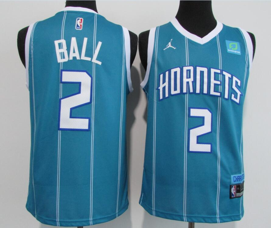 Hornets 2 LaMelo Ball Blue 2020-21 City Edition Swingman Jersey