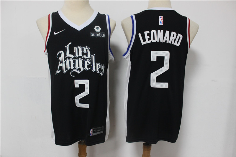 Clippers 2 Kawhi Leonard Black 2021 City Edition Nike Swingman Jersey