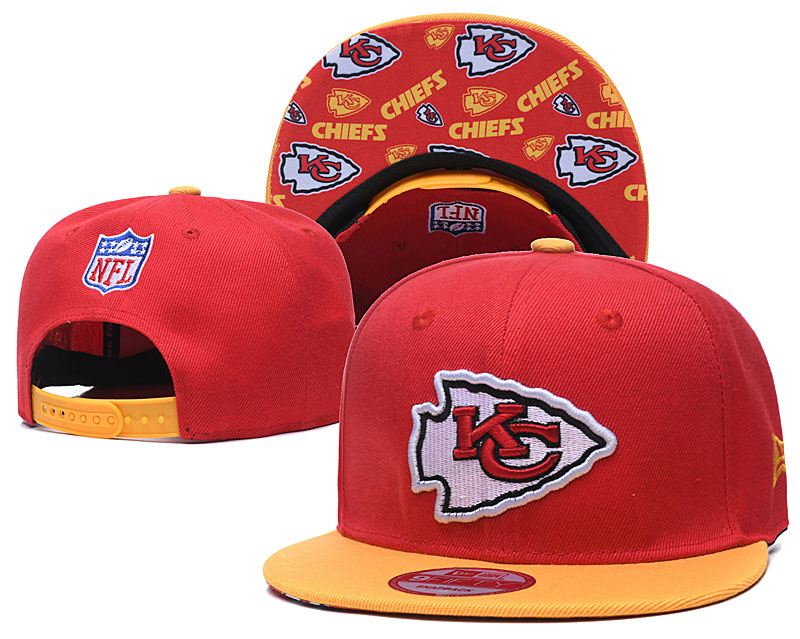 Chiefs Team Logo Red Yellow Adjustable Hat TX
