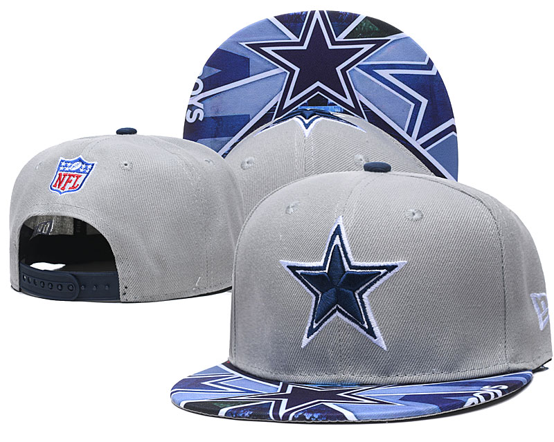 Cowboys Team Logo Gray Adjustable Hat TX