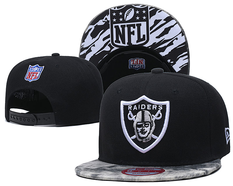 Raiders Fresh Logo Black Adjustable Hat TX