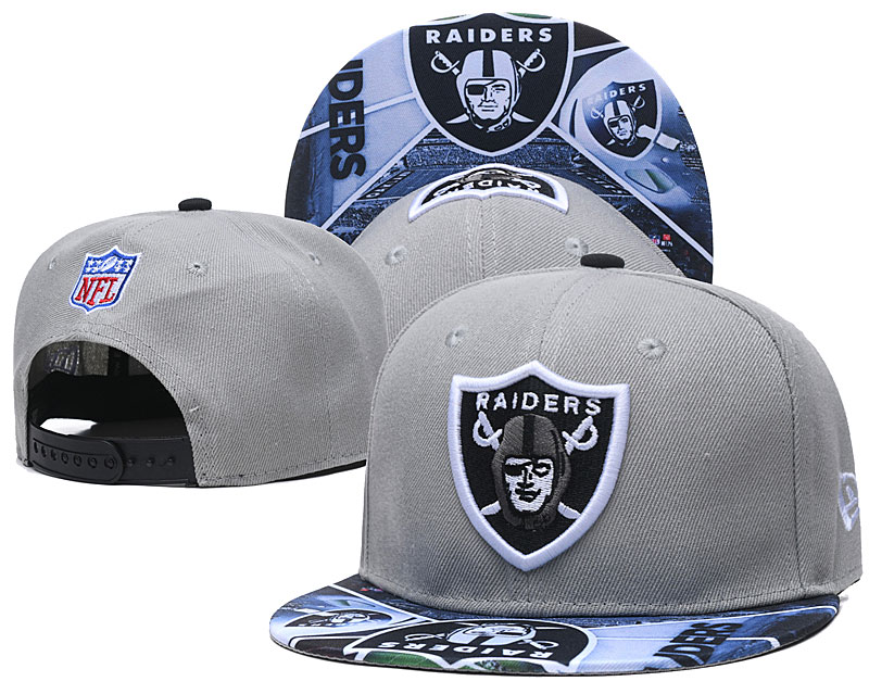 Raiders Fresh Logo Gray Adjustable Hat TX