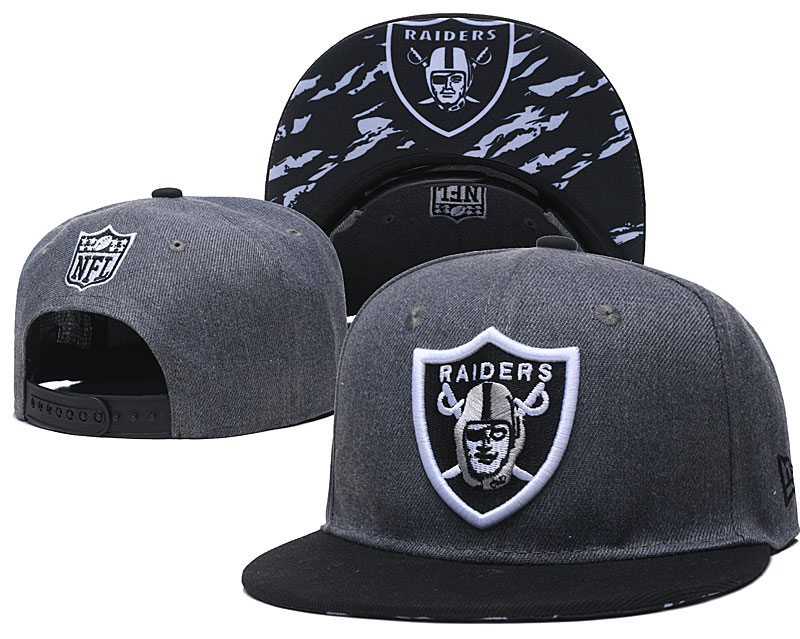 Raiders Team Logo Gray Adjustable Hat TX