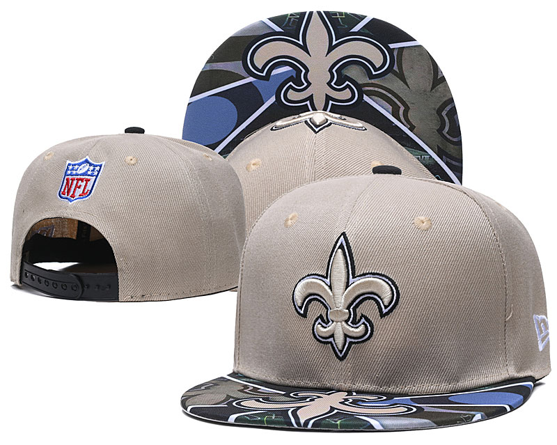 Saints Team Logo Cream Adjustable Hat TX