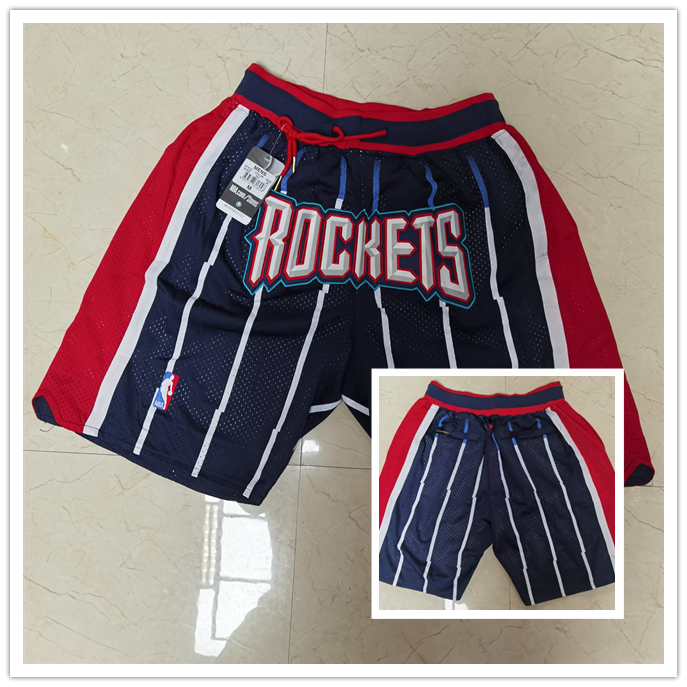 Rockets Navy Just Don With Pocket Swingman Shorts
