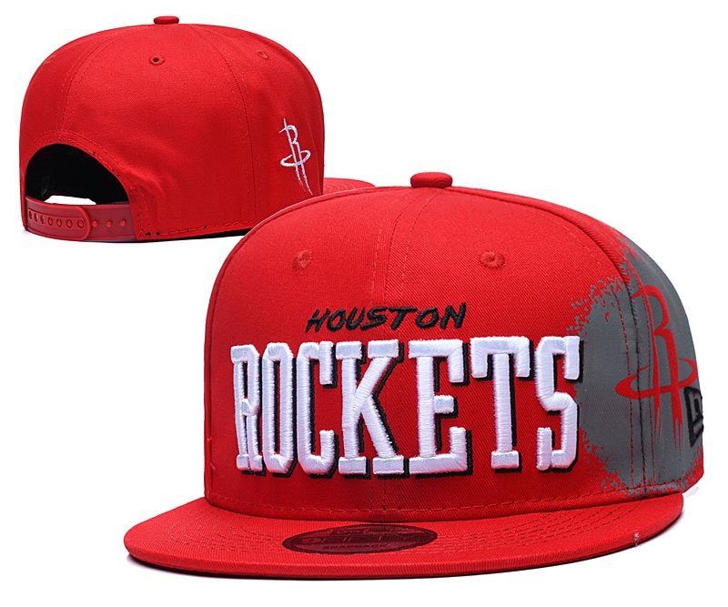 Rockets Team Logo Red Adjustable Hat YD