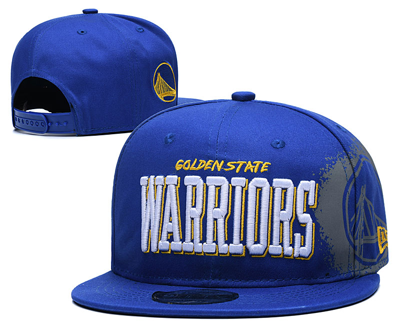 Warriors Team Logo Blue Adjustable Hat YD