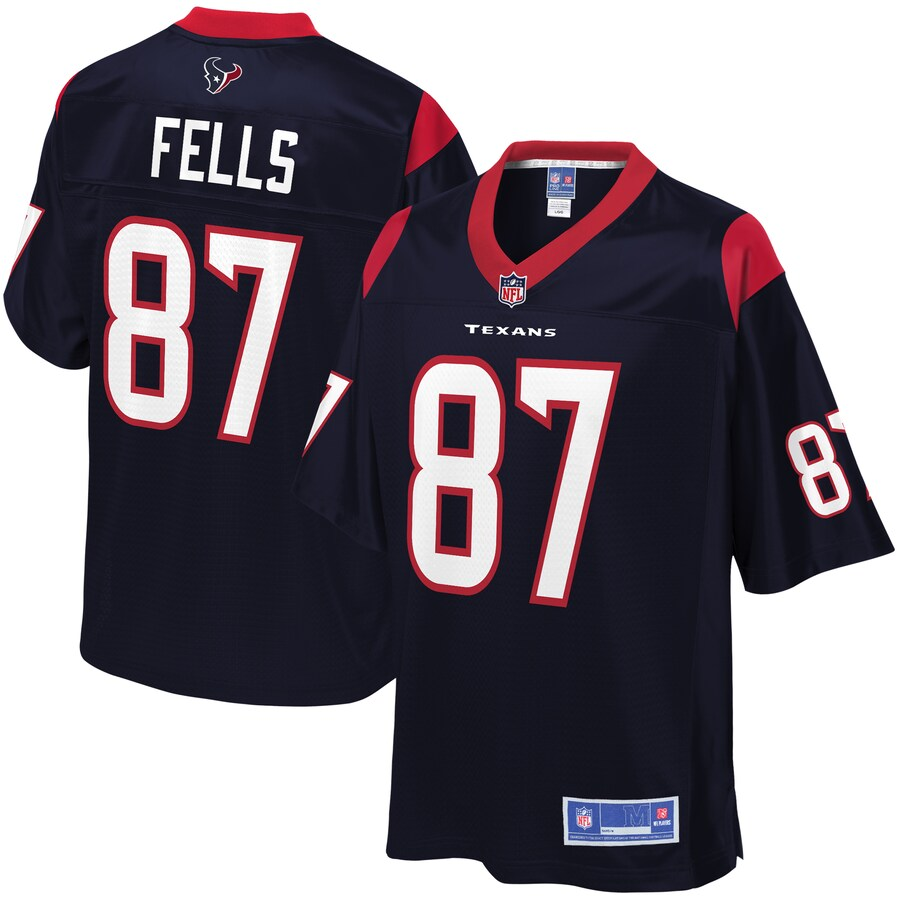 Texans 87 Darren Fells Navy Pro Line Primary Player Jersey