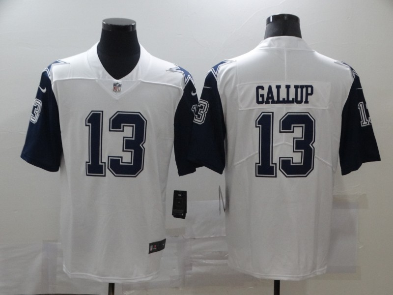 Nike Cowboys 13 Michael Gallup White Color Rush Limited Jersey