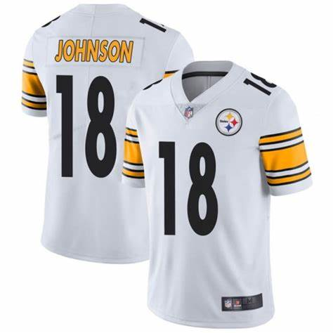 Nike Steelers 18 Diontae Johnson White Vapor Untouchable Limited Jersey