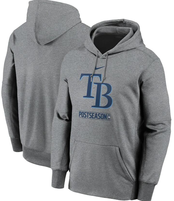 Men's Tampa Bay Rays Nike Gray 2020 Postseason Collection Pullover Hoodie