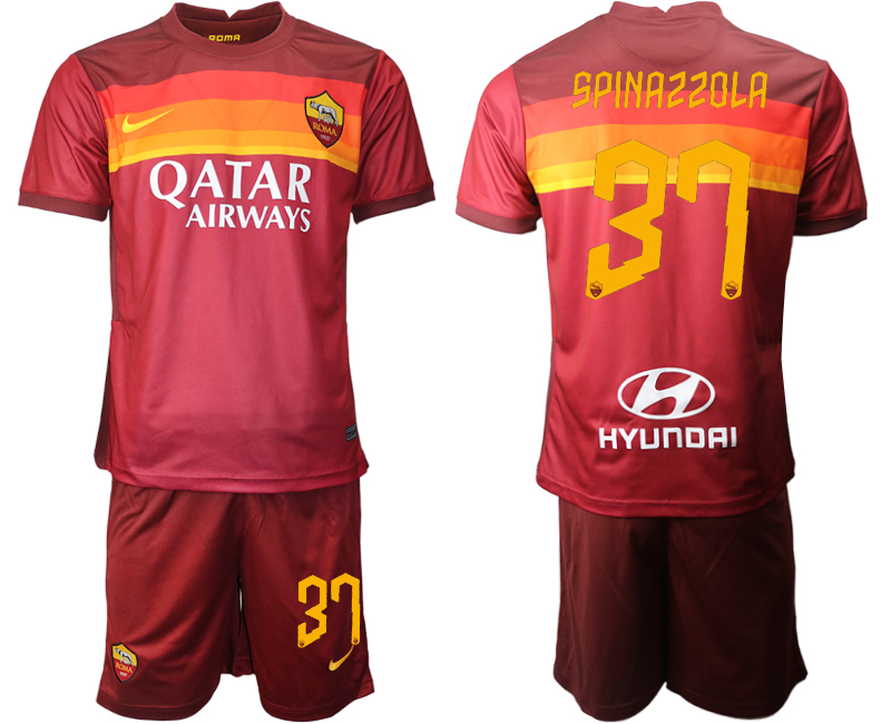 2020-21 Roma 37 SPINAZZOLA Home Soccer Jersey