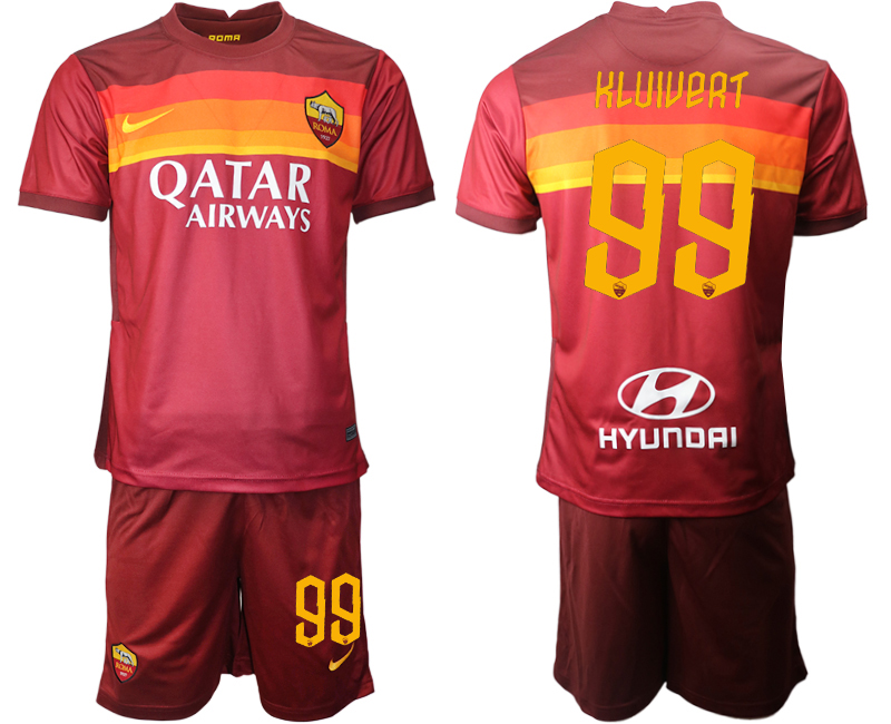 2020-21 Roma 99 KLUIVERT Home Soccer Jersey