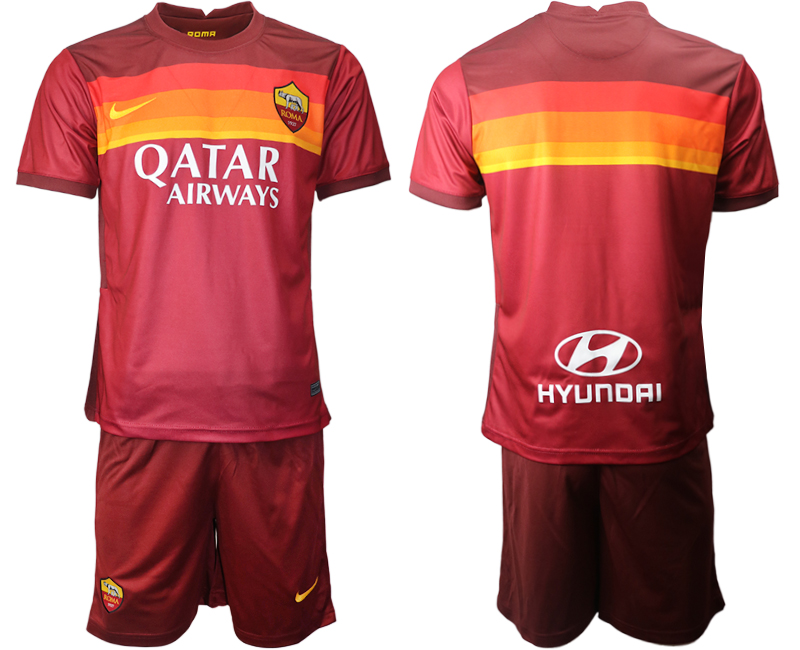 2020-21 Roma Home Soccer Jersey