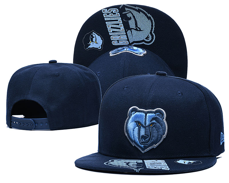 Grizzlies Team Logo Navy Adjustable Hat GS