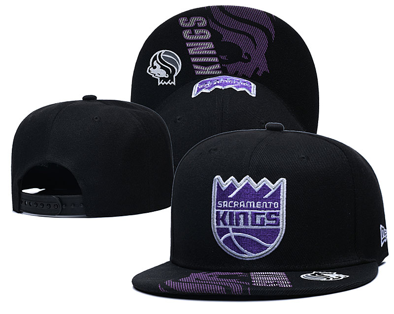 Kings Team Logo Black Adjustable Hat GS