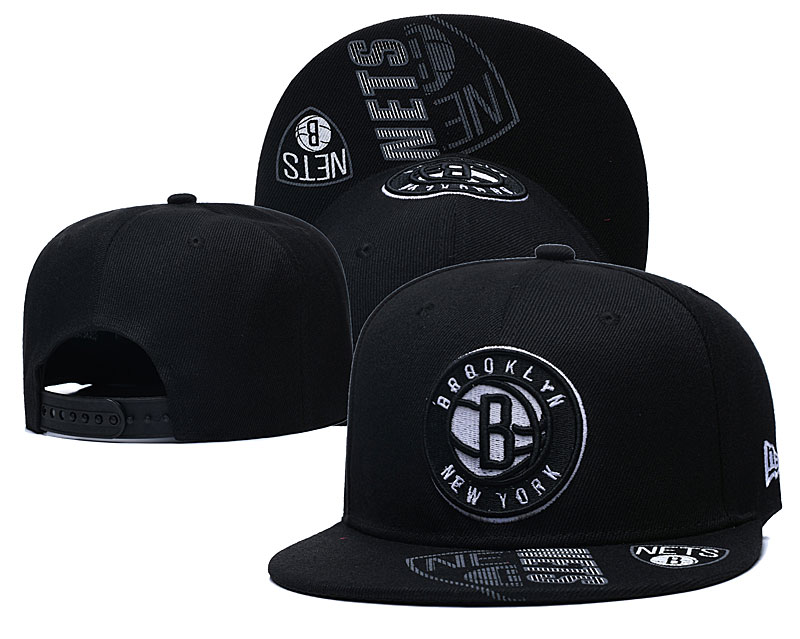 Nets Team Logo Black Adjustable Hat GS