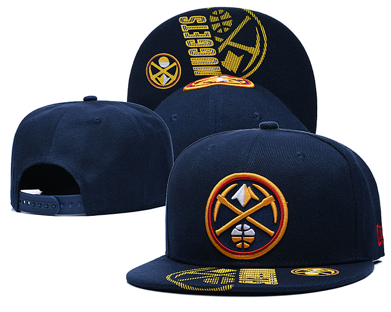 Nuggets Team Logo Navy Adjustable Hat GS