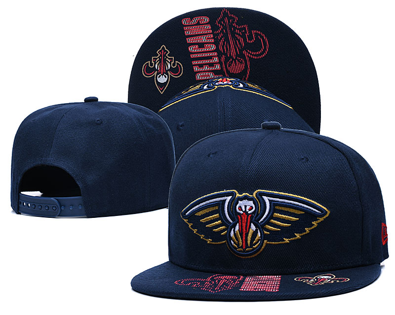 Pelicans Team Logo Navy Adjustable Hat GS