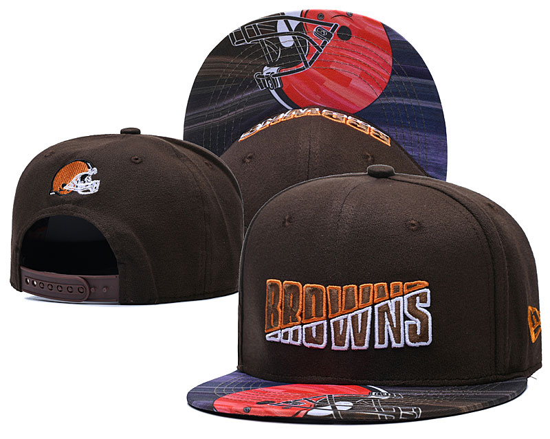 Browns Team Logo Brown 2020 NFL Summer Sideline Adjustable Hat YD