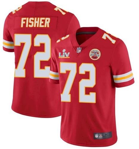 Nike Chiefs 72 Eric Fisher Red 2021 Super Bowl LV Vapor Untouchable Limited Jersey
