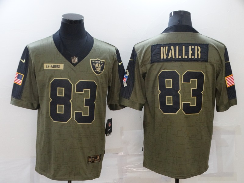 Nike Raiders 83 Darren Waller Olive 2021 Salute To Service Limited Jersey