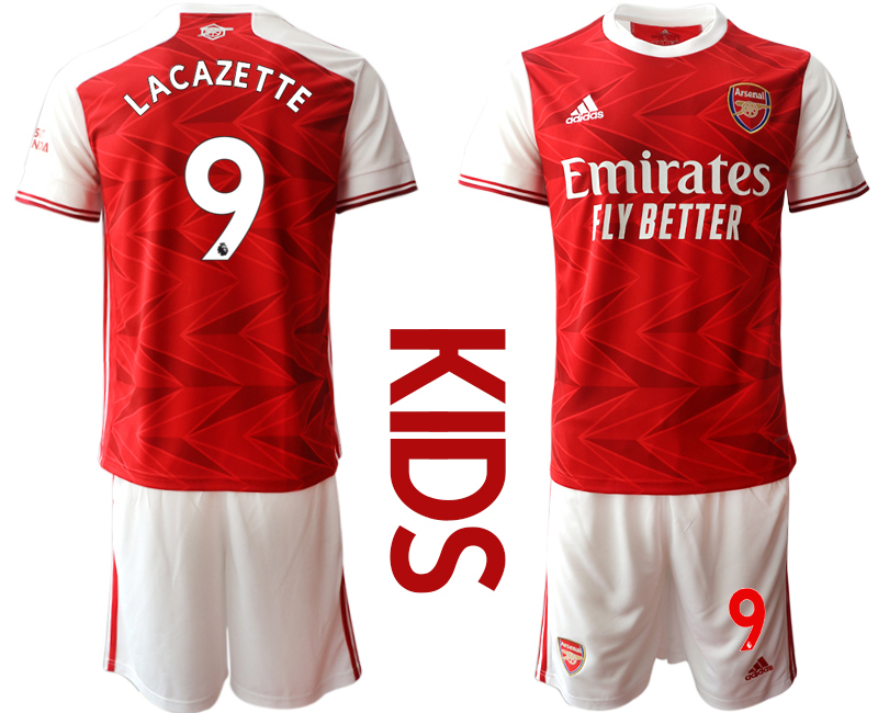 2020-21 Arsenal 9 LACAZETTE Youth Home Soccer Jersey