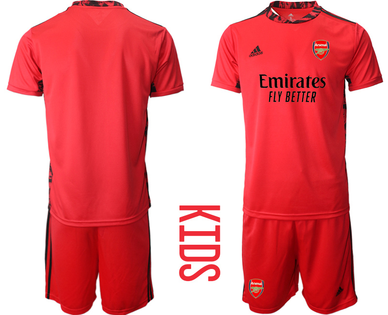 2020-21 Arsenal Red Youth Goalkeeper Soccer Jersey