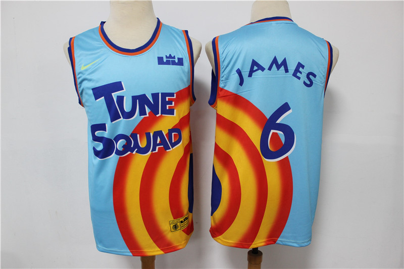 Tune Squad 6 James Blue Nike Stitched Movie Basketball Jersey