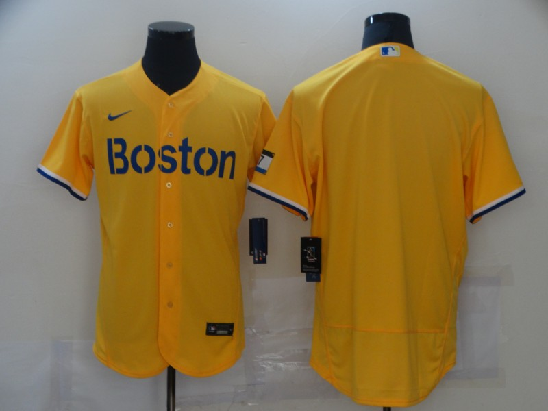 Red Sox Blank Gold Nike 2021 City Connect Replica Player Flexbase Jersey