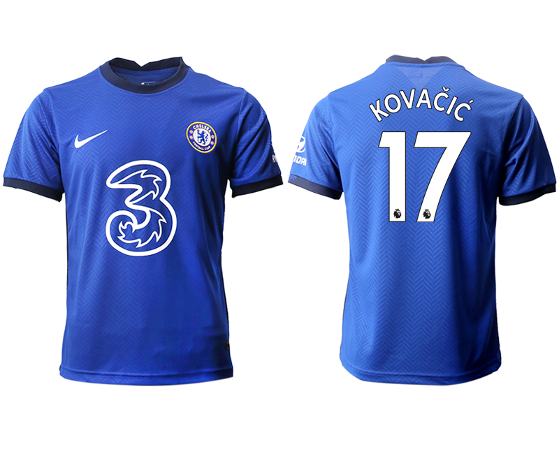2020-21 Chelsea 17 KOVACIC Home Thailand Soccer Jersey