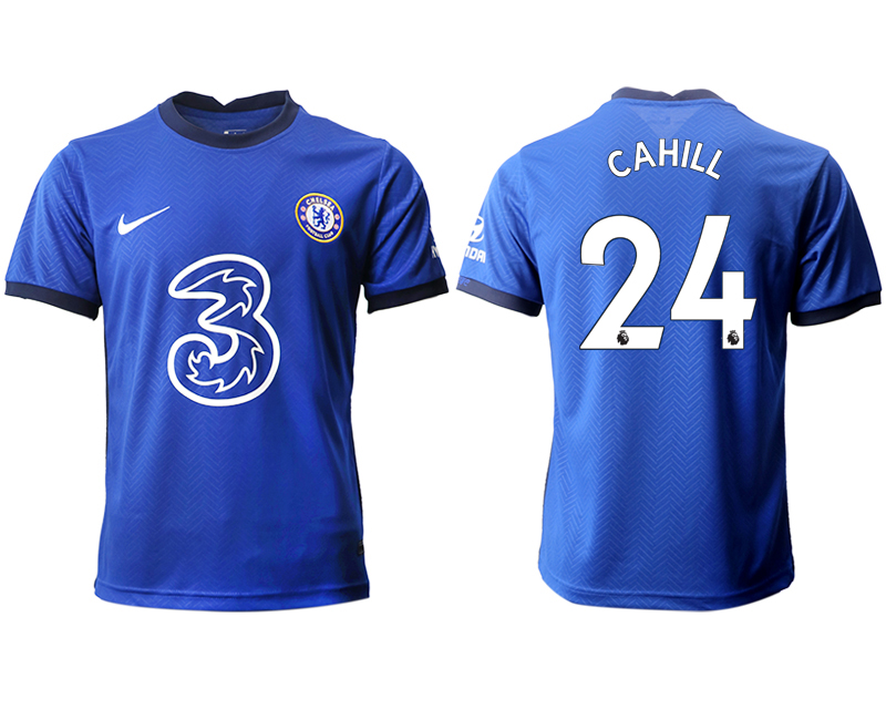 2020-21 Chelsea 24 CAHILL Home Thailand Soccer Jersey